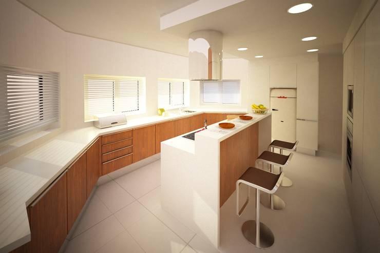 Projeto de Cozinha - Setubal:   por Decorando - Inner Spaces