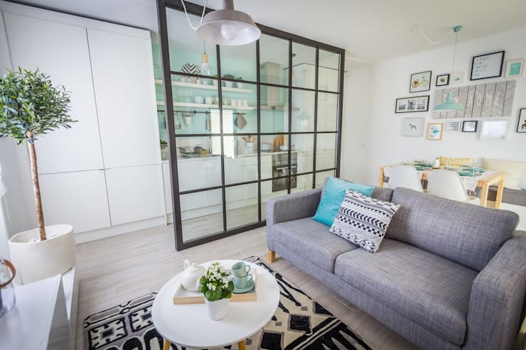 scandinavian Living room by homify