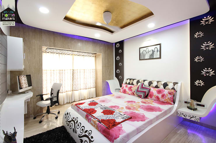 Master Bedroom: modern Bedroom by home makers interior designers & decorators pvt. ltd.
