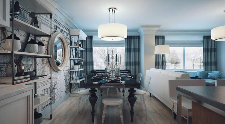 2 bedroom apartment. New York: Столовые комнаты в . Автор – KAPRANDESIGN