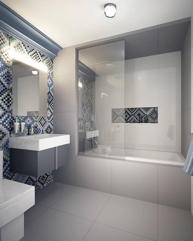 Bathroom: Ванные комнаты в . Автор – KAPRANDESIGN