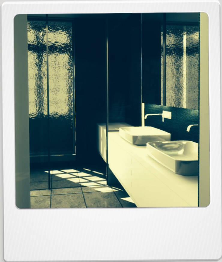 04HCM11 – REABILITAÇÃO RUA DE S.PEDRO: Casas de banho  por sérgio rocha.arq