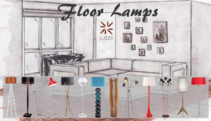 Floor lamps: Casa  por LUZZA by AIPI - Portuguese Lighting Association