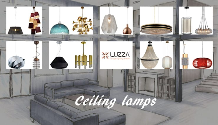 Ceiling lamps: Casa  por LUZZA by AIPI - Portuguese Lighting Association