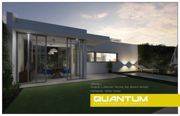 Quincho + piscina_nocturno: Piletas de estilo  por Betiana Denardi | Arquitecta