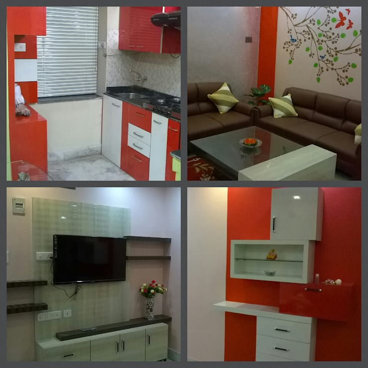 Residence project at ANDAL, WEST BENGAL, INDIA.:  Kitchen by Elegant Dwelling