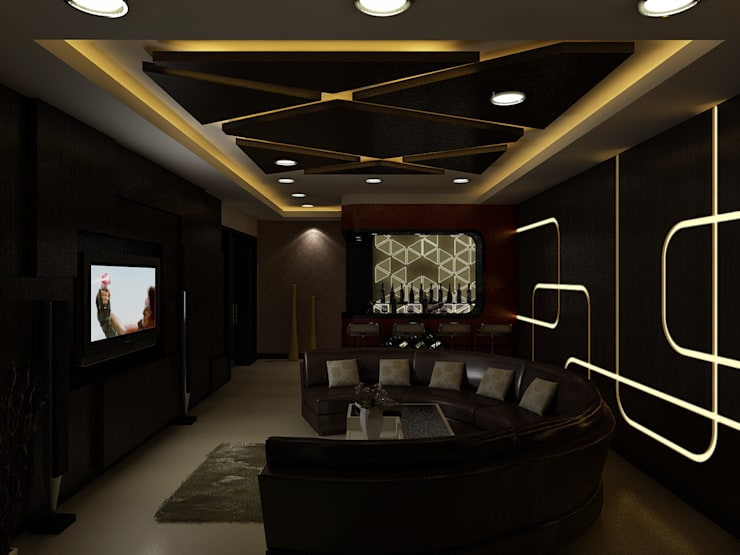 Home Theater :  Media room by The Brick Studio ,Modern