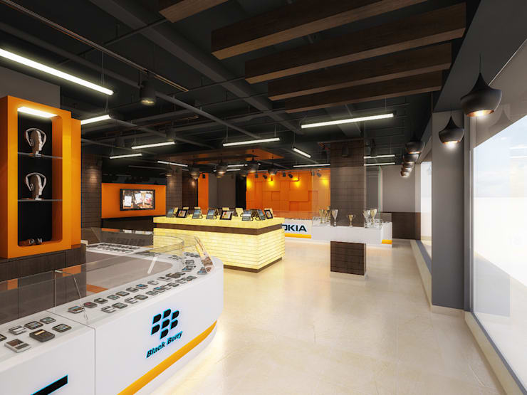3d view 1:  Commercial Spaces by The Brick Studio ,Modern
