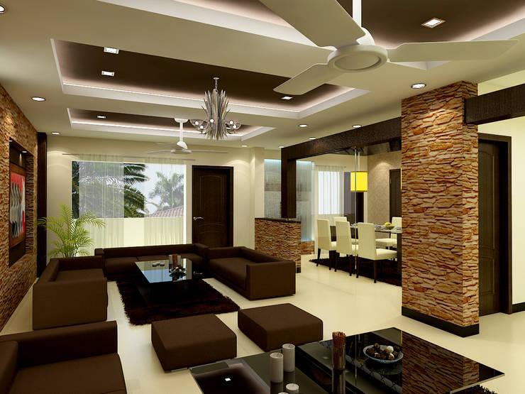 Living room 2: modern Living room by The Brick Studio