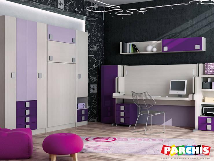 Oficinas y tiendas de estilo  por Muebles Parchis. Dormitorios Juveniles.