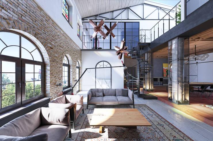 غرفة المعيشة تنفيذ MARTINarchitects