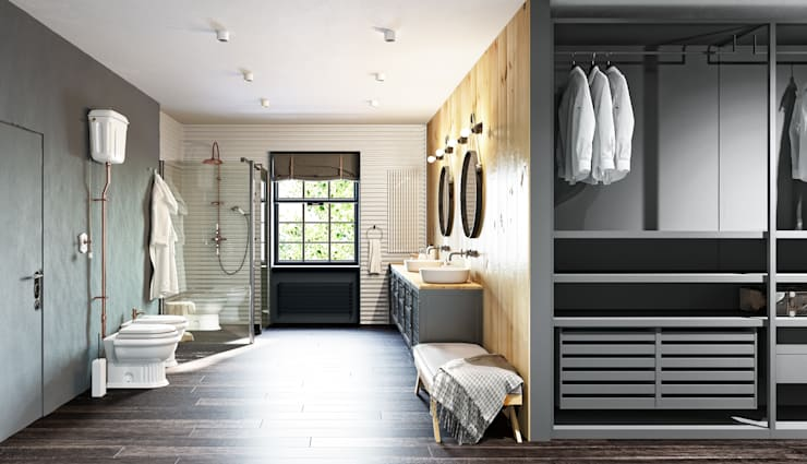 steep 5: Ванные комнаты в . Автор – MARTINarchitects