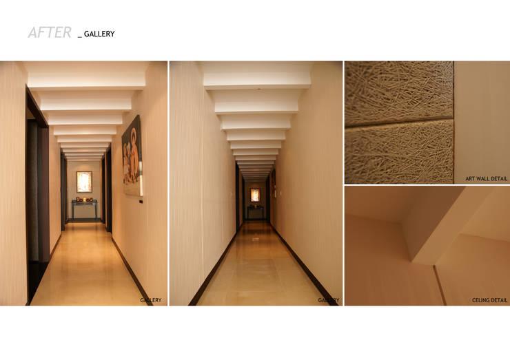 가족의 라이프 스타일과 취향을 담은 아파트 인테리어: 스튜디오메조 건축사사무소의  복도 & 현관