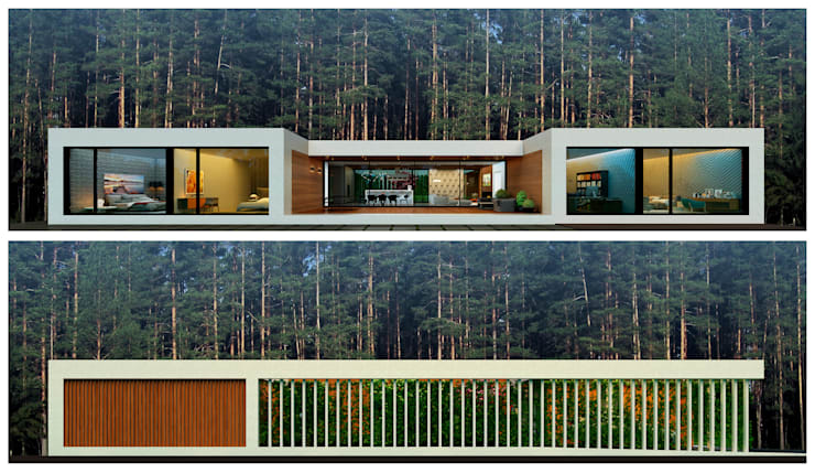 Projekty,  Domy zaprojektowane przez ALEXANDER ZHIDKOV ARCHITECT
