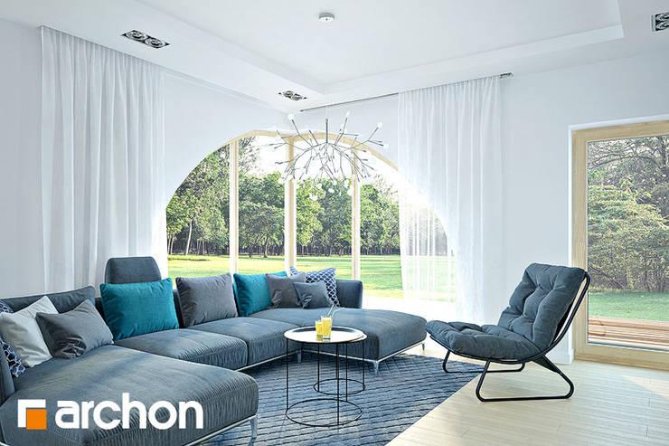 Projekt: Dom w zefirantach 2 (G2): styl , w kategorii  zaprojektowany przez ARCHON+ PROJEKTY DOMÓW