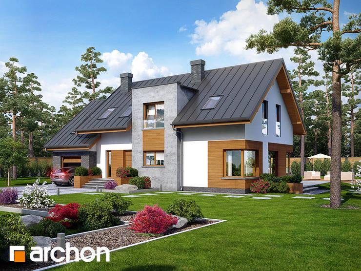 Projekt: Dom w moliniach: styl , w kategorii  zaprojektowany przez ARCHON+ PROJEKTY DOMÓW