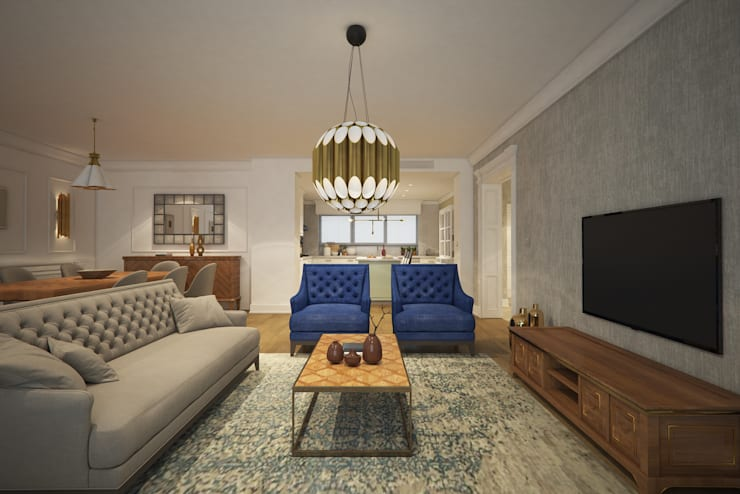 Living room by yücel partners