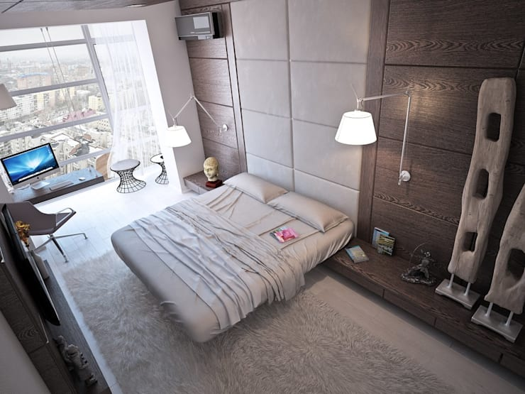 minimalistic Bedroom by Grafit Architects