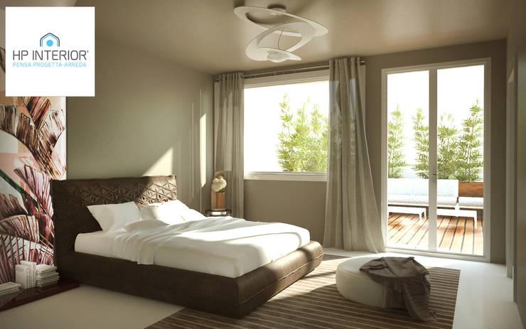 GIALLO ?? PERCHE' NO !!!!!!!!: Camera da letto in stile in stile Moderno di HP Interior srl