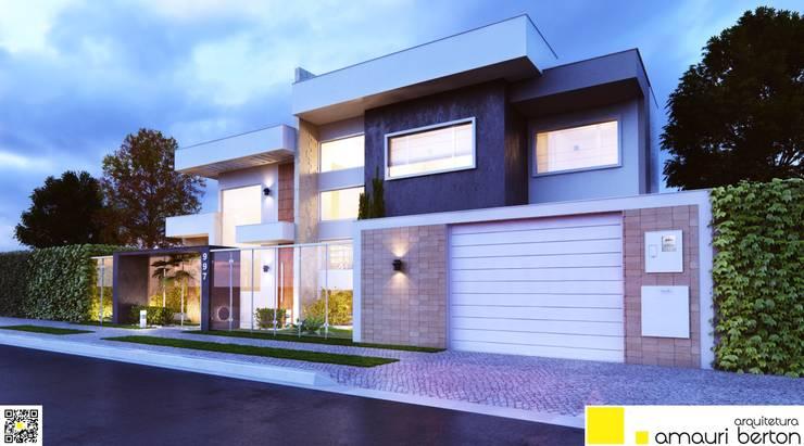 Casas de estilo  por Amauri Berton Arquitetura