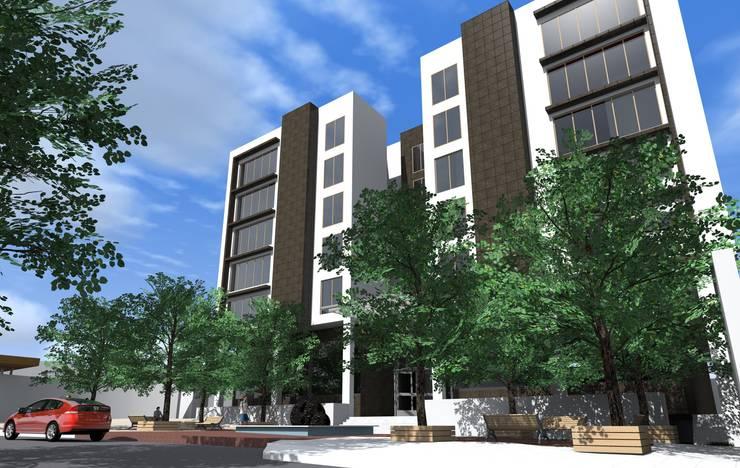 Edificio AZ22: Casas de estilo  por ARQUITECTO ALEJANDRO ORTIZ