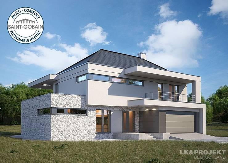 Modern und gemütlich in einem – perfekt! Unser Entwurf LK&1131:  Häuser von LK&Projekt GmbH,Modern