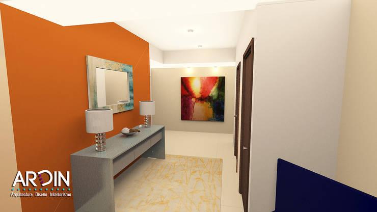 Recibidor : Pasillos y recibidores de estilo  por ARDIN INTERIORISMO
