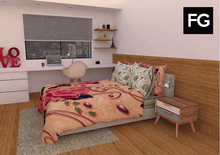 Diseño de interiores departamento: Dormitorios infantiles  de estilo  por FG ARQUITECTURA E INTERIORISMO,