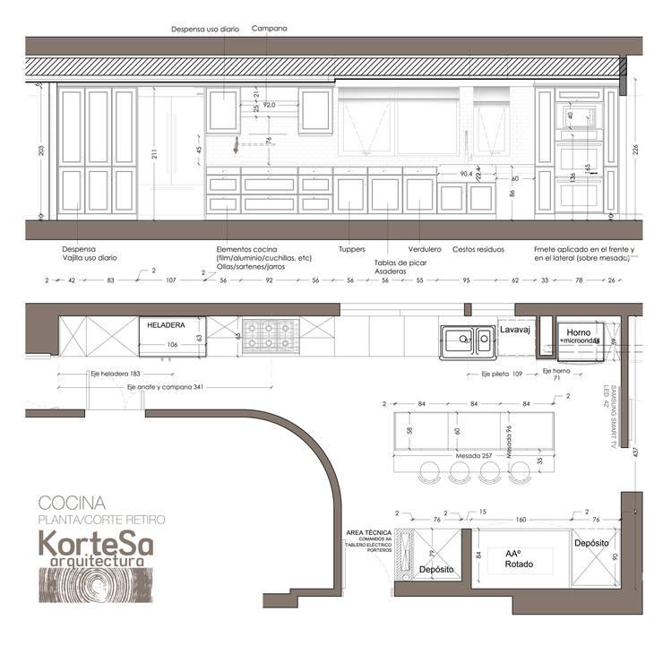 Cuisine de style  par KorteSa arquitectura