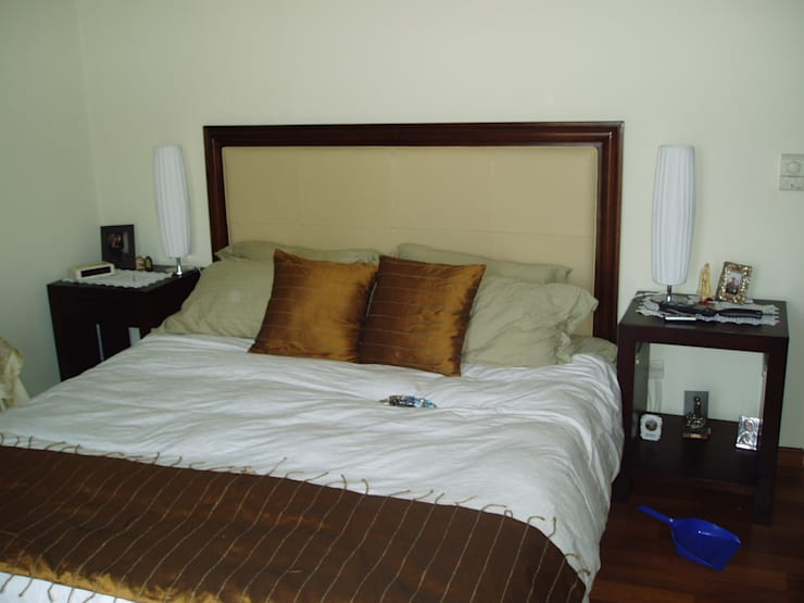 Cama Matrimonial Sencilla: Dormitorios de estilo  por Decoraciones Santander