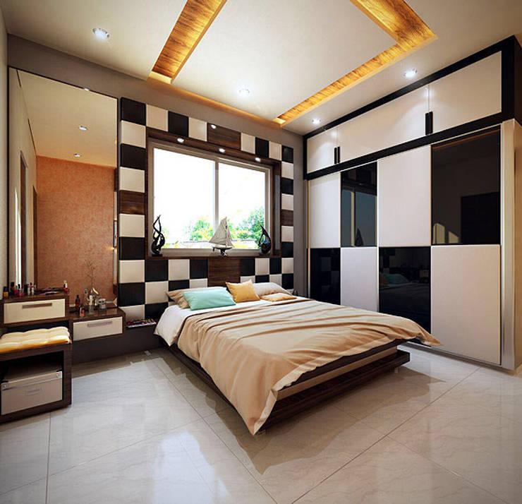 غرفة نوم تنفيذ Studio Polygon