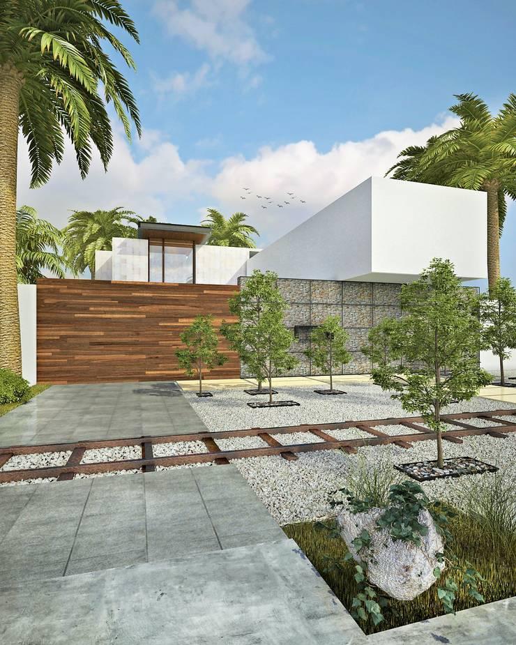 FACHADA FRONTAL: Casas de estilo  por CARCO Arquitectura y Construccion