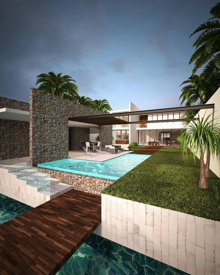 casa-OL: Casas de estilo  por CARCO Arquitectura y Construccion