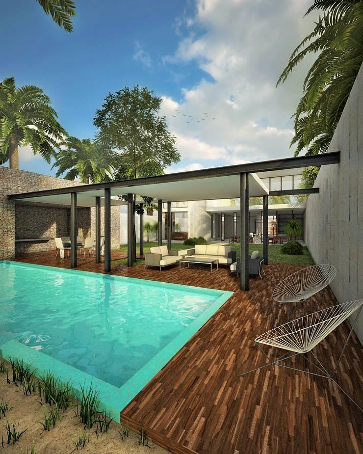 casa-OL: Terrazas de estilo  por CARCO Arquitectura y Construccion