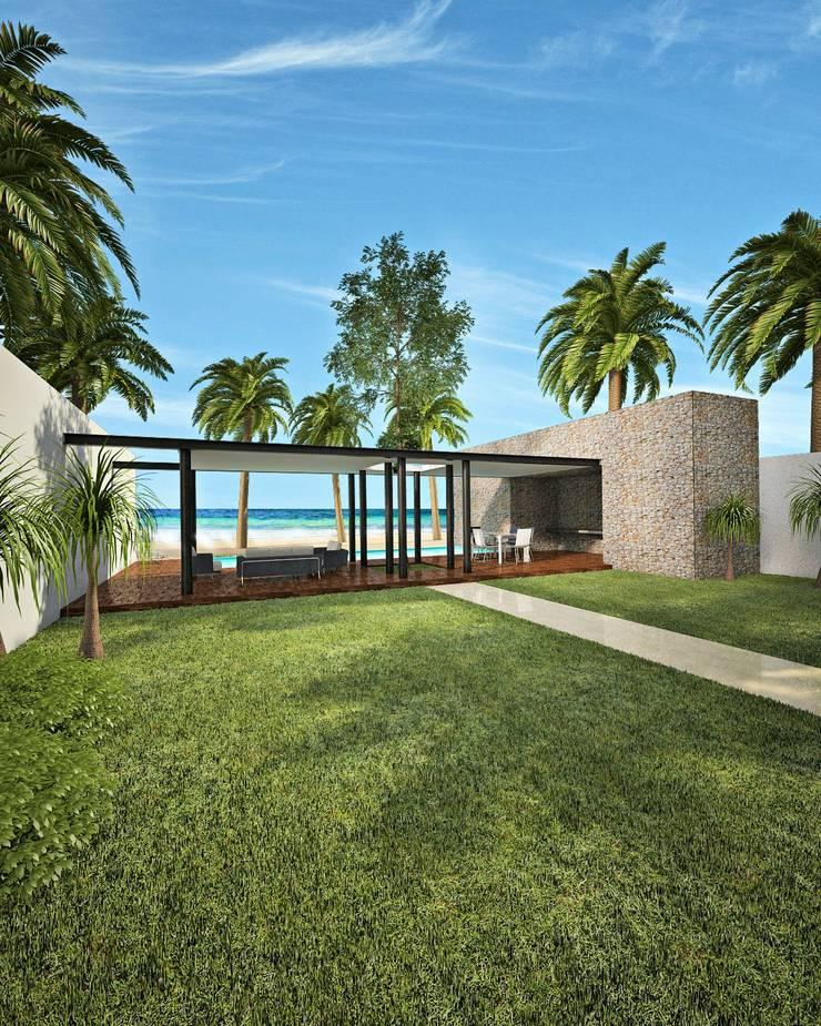 casa-OL: Jardines de estilo  por CARCO Arquitectura y Construccion