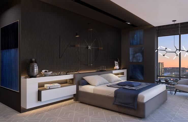 Спальня: Спальни в . Автор – Room Краснодар, Минимализм