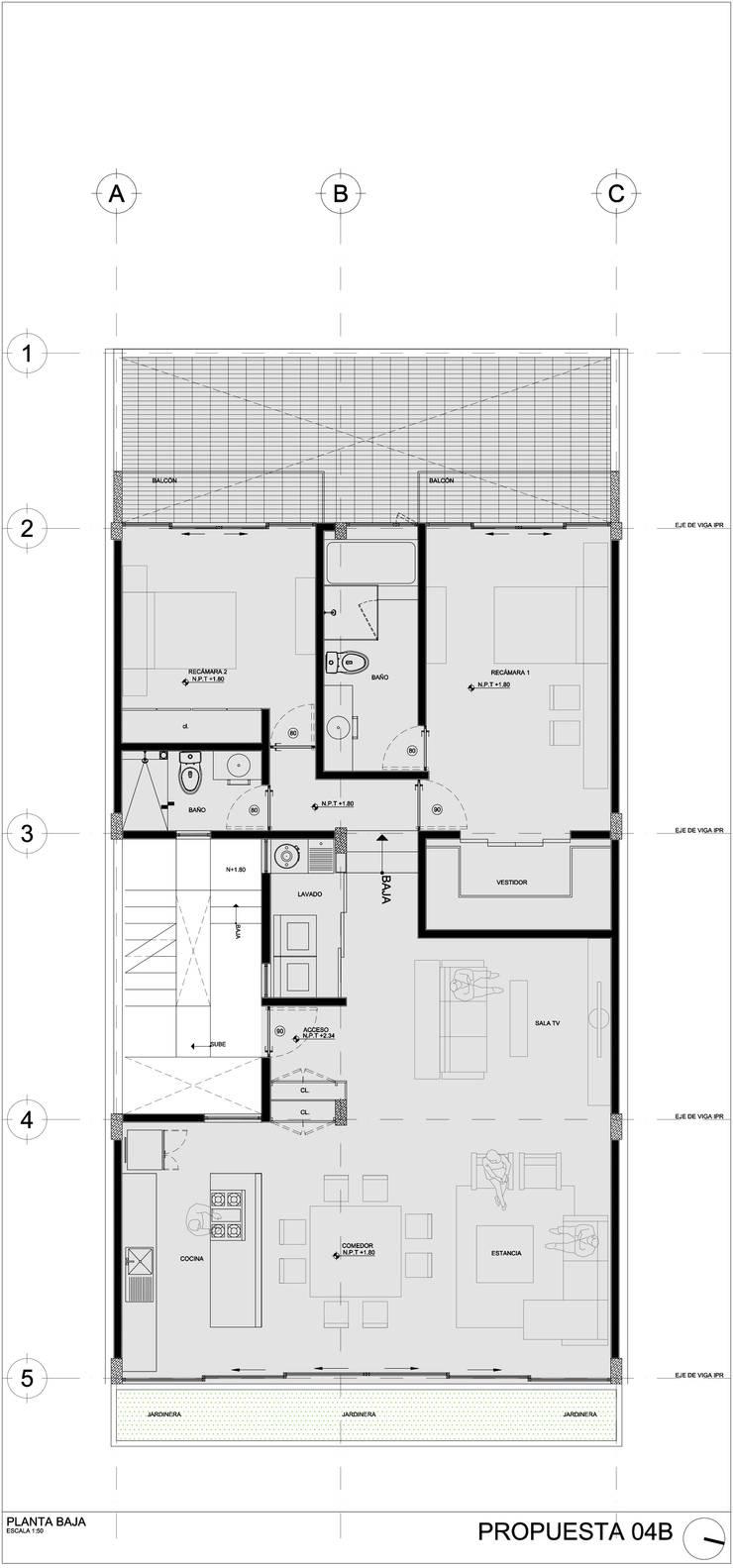 COATEPEC: Casas de estilo  por gOO Arquitectos