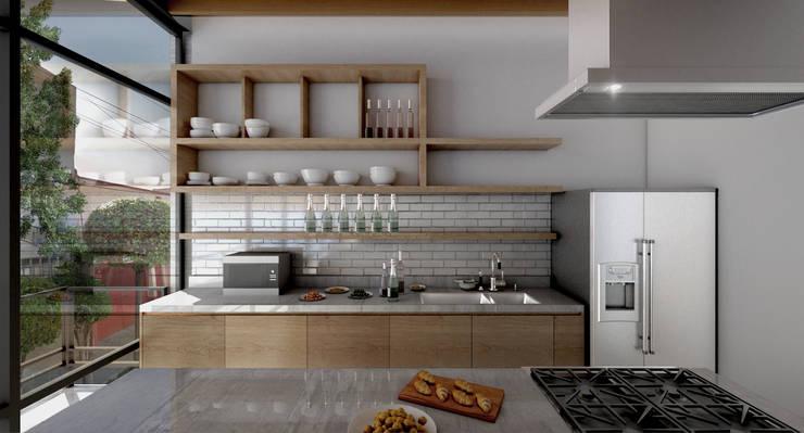 COATEPEC: Cocinas de estilo  por gOO Arquitectos
