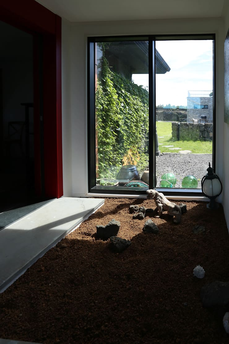 까사봉봉: 아키제주 건축사사무소의  베란다,한옥
