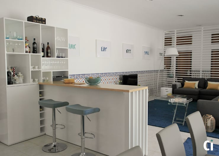 Salas de estilo  por Ci interior decor