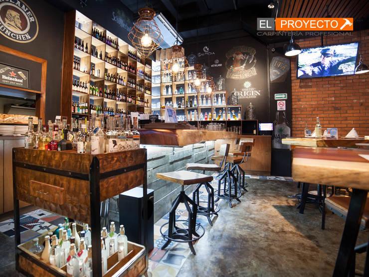 carpinteria comercial: Bares y discotecas de estilo  por carpinteria el proyecto