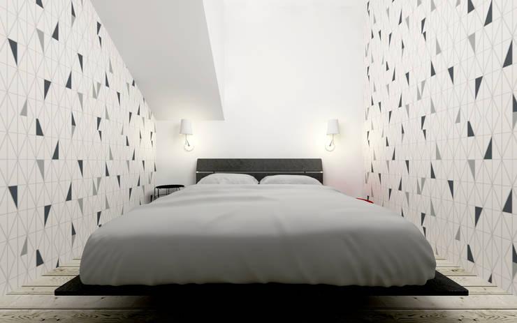 Dom letniskowy na skale: styl , w kategorii Sypialnia zaprojektowany przez BIG IDEA studio projektowe