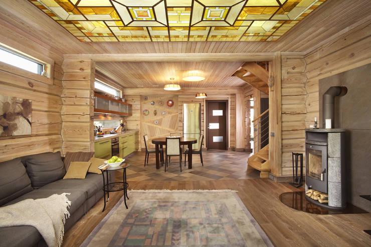 Дом в Морозово: Гостиная в . Автор – архитектурная мастерская МАРТ
