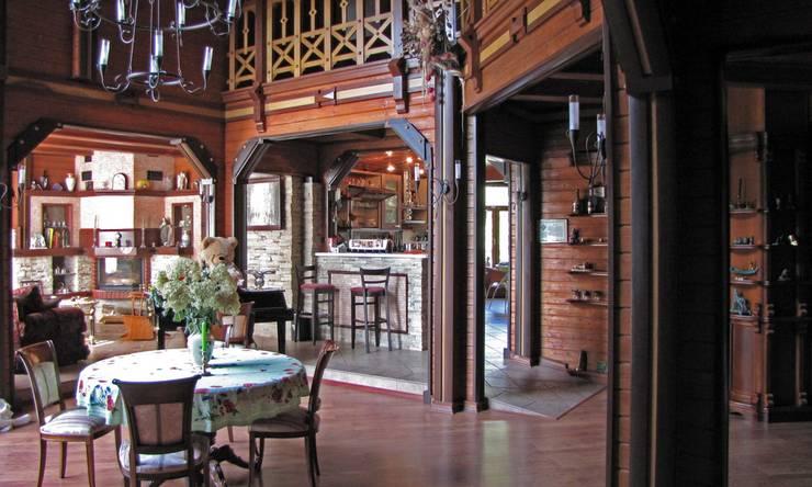 Дом в Успенском: Гостиная в . Автор – архитектурная мастерская МАРТ