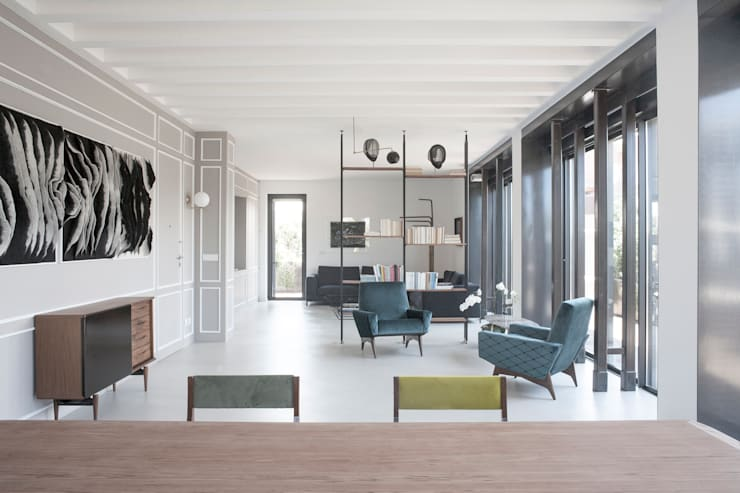غرفة المعيشة تنفيذ 3C+M architettura