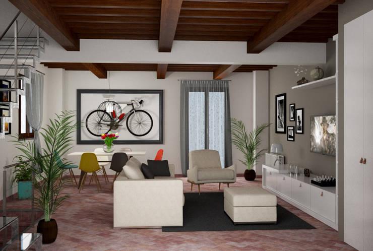 Soggiorno Casa C Soggiorno moderno di design WOOD Moderno