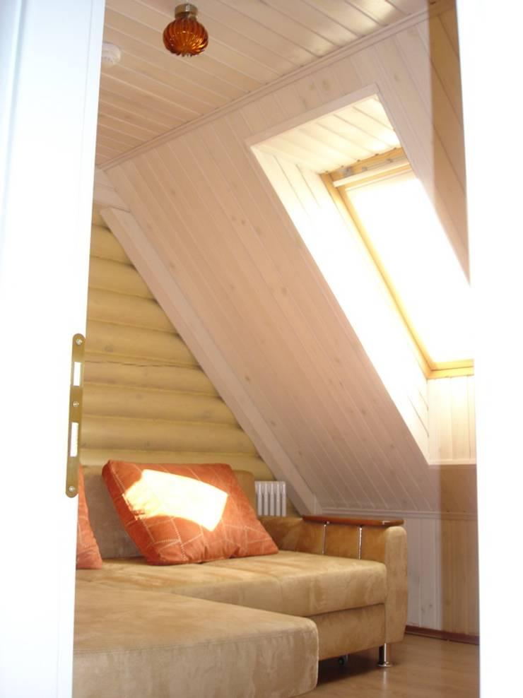 Баня на Николиной Горе: Спальни в . Автор – архитектурная мастерская МАРТ,