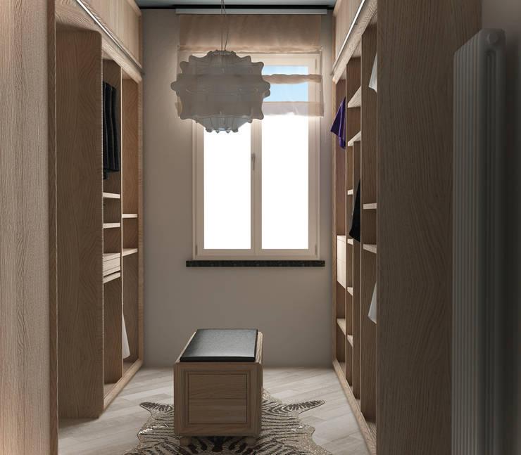 vista lato B: Camera da letto in stile  di design WOOD,