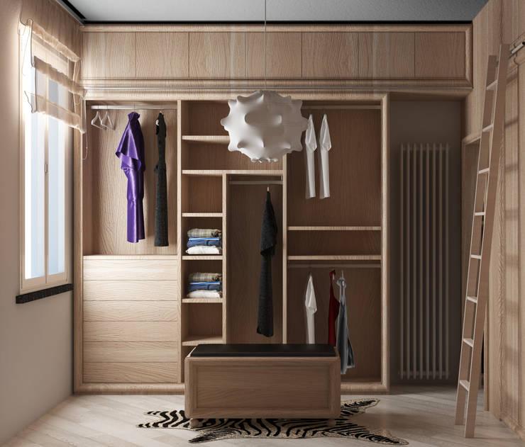 vista lato C: Camera da letto in stile  di design WOOD,