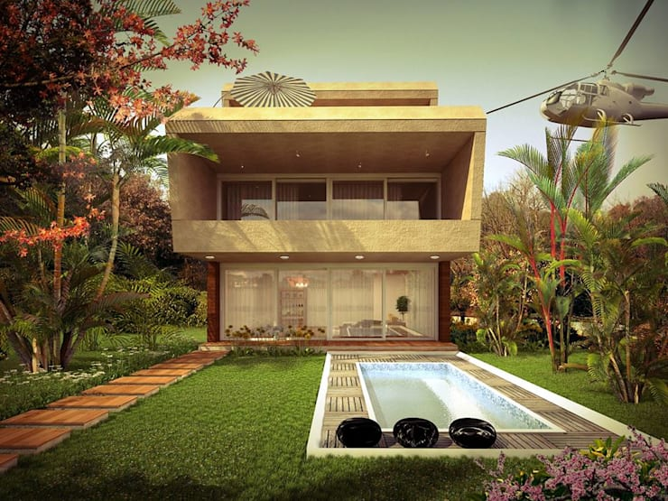 private bungalow:  Houses by KARU AN ARTIST